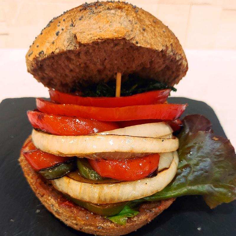 Hamburguesa Vegetariana - La Burguesita Restaurante para niños en Boadilla del Monte